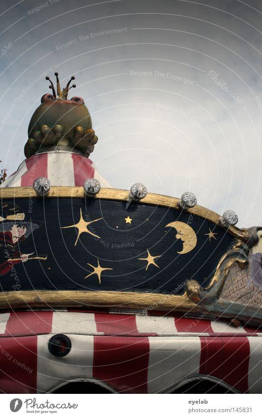 Kroschfönig Himmel weiß blau rot Freude gelb Lampe Holz träumen Metall gold Stern (Symbol) Kitsch Dekoration & Verzierung Wunsch Schmuck