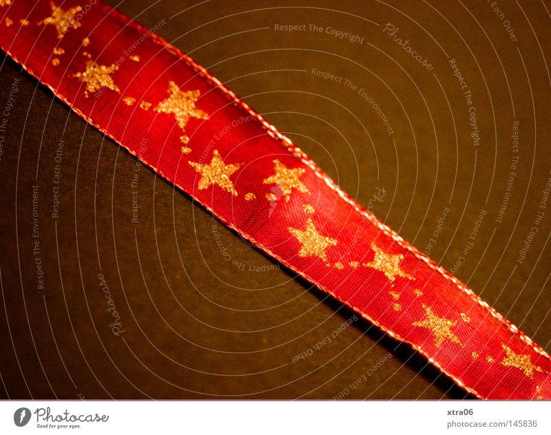 gehts jetzt schon mit dem verpacken los? Weihnachten & Advent rot Dekoration & Verzierung gold Gold Stern (Symbol) Weihnachtsdekoration einpacken Geschenkband