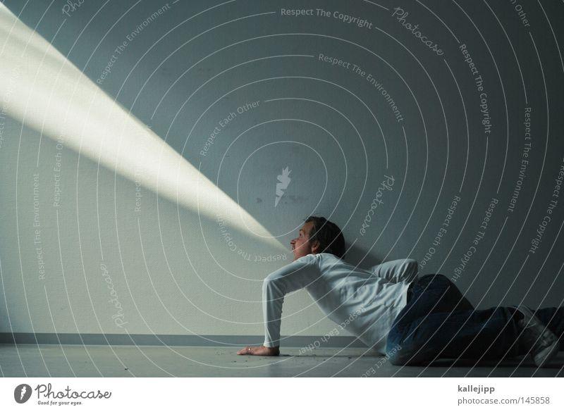 teilchenbeschleuniger Mensch Mann weiß Einsamkeit Informationstechnologie sprechen Raum Wohnung liegen Netzwerk Musiker Kommunizieren Telekommunikation Pfeil Computernetzwerk Medien