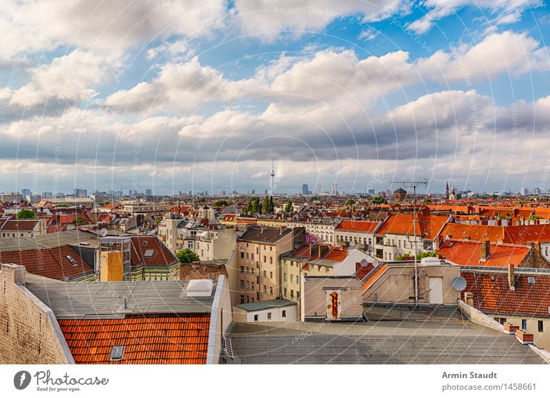 Panorama Berlin Lifestyle Umwelt Natur Himmel Wolken Frühling Sommer Schönes Wetter Hauptstadt Haus Sehenswürdigkeit authentisch trendy hoch Stimmung Vorfreude