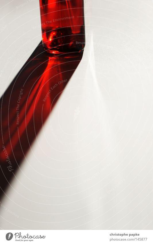Red Band schön rot Beleuchtung ästhetisch Ecke einfach Flüssigkeit Strahlung durchsichtig Lichtbrechung Parfum abstrakt Lichtstrahl reduziert Lichteffekt