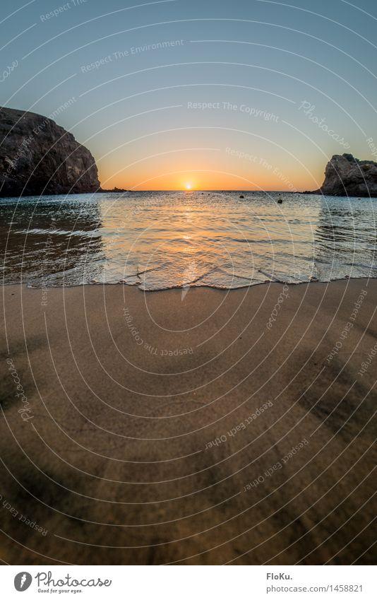 Sonnenuntergang am Playa Papagayo Ferien & Urlaub & Reisen Tourismus Freiheit Sommer Strand Meer Natur Sand Wasser Sonnenaufgang Sonnenlicht Schönes Wetter