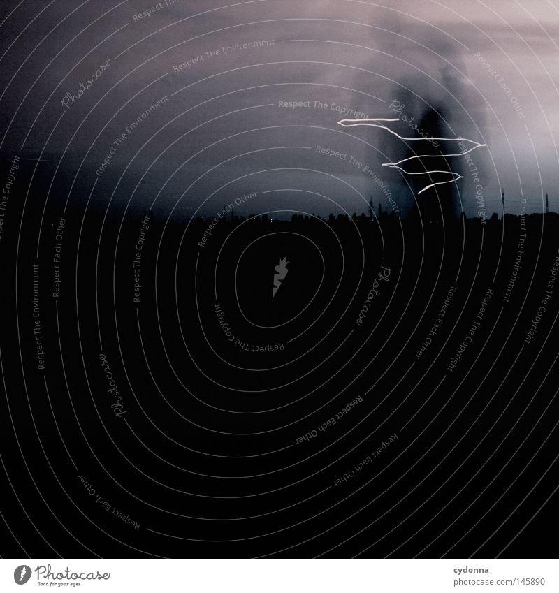 Ghosts Geister u. Gespenster Langzeitbelichtung fremd dunkel Licht Nacht unheimlich gruselig Mann schwarz Horizont Wolken Schrecken kommen anonym Sicherheit