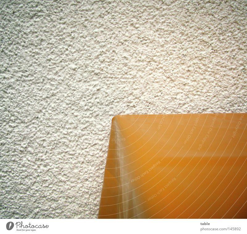 Table weiß Freude Wand orange Fassade Tisch neu Sauberkeit Möbel Balkon