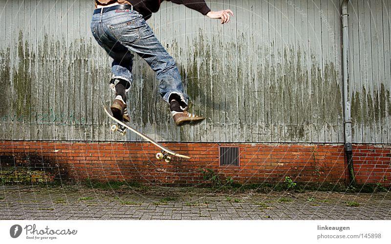 der letzte ollie Skateboarding springen Sport Aktion Funsport fun
