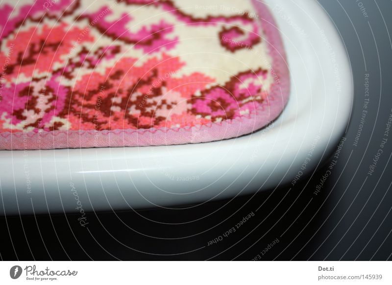 good morning Sauerland Bad Waschbecken Ablage Sims Keramik rund Kurve Bogen Am Rand Ecke Matten Decke Schonen bedecken umrandet Textilien
