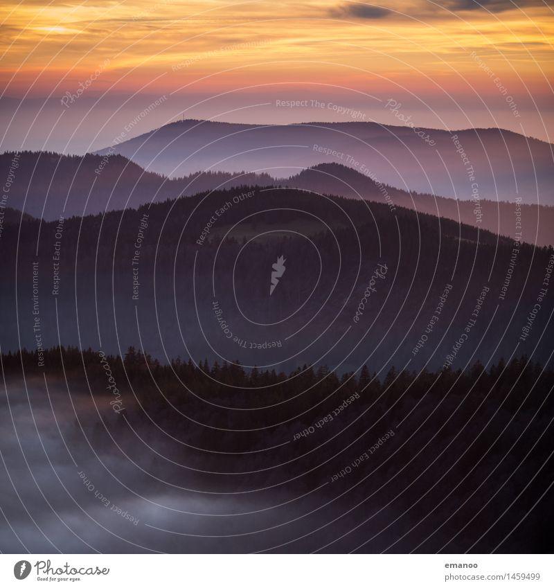 Schwarzwald Ferien & Urlaub & Reisen Tourismus Ausflug Ferne Freiheit Berge u. Gebirge wandern Natur Landschaft Luft Himmel Wolken Horizont Herbst Klima Wetter