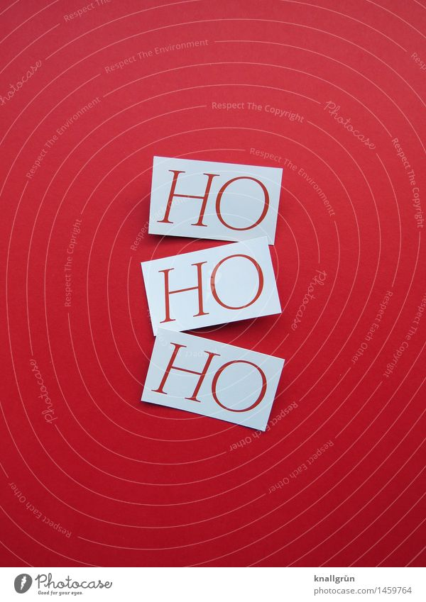 HO HO HO weiß rot Freude - ein lizenzfreies Stock Foto von Photocase