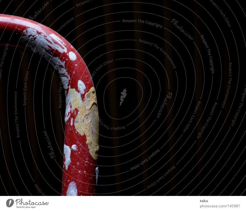 PAINTING Wohnung Renovieren Pinsel Wand rot weiß Heimwerker Handwerk neue wohnung stehleiter Leiter streichen Decke Farbe wandfarbe orange Freude andreas ...