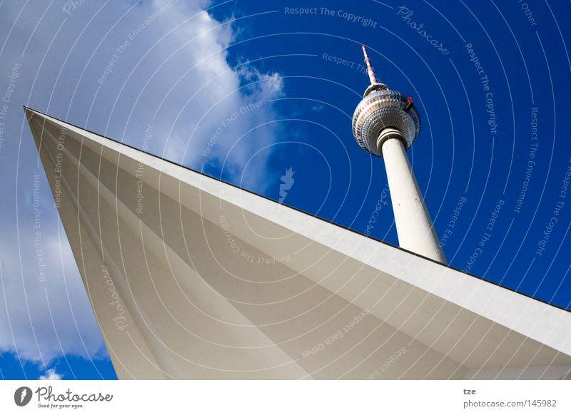 Der Turm Berlin Medien Handwerk historisch Schönes Wetter Berlin-Mitte Berliner Fernsehturm Alexanderplatz