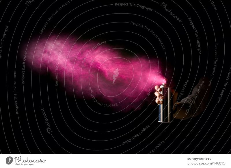 *Spray* Farbe dunkel Farbstoff Kunst Dose rosa Nebel Kultur Handwerk Werkstatt Neonlicht Spray sprühen Farben und Lacke neonfarbig