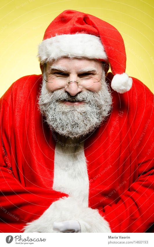 Bad Christmas Weihnachten & Advent maskulin Mann Erwachsene Männlicher Senior 1 Mensch 45-60 Jahre Arbeitsbekleidung Mütze grauhaarig Bart Vollbart bedrohlich