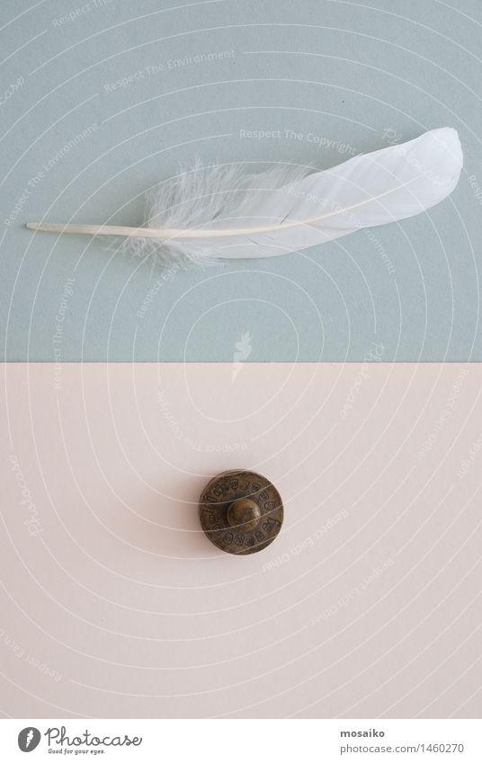 weiße Feder und Gewicht Himmel blau dunkel Vogel oben Erde Zufriedenheit Fliege Kreativität Papier Pause Gleichgewicht Surrealismus Diät
