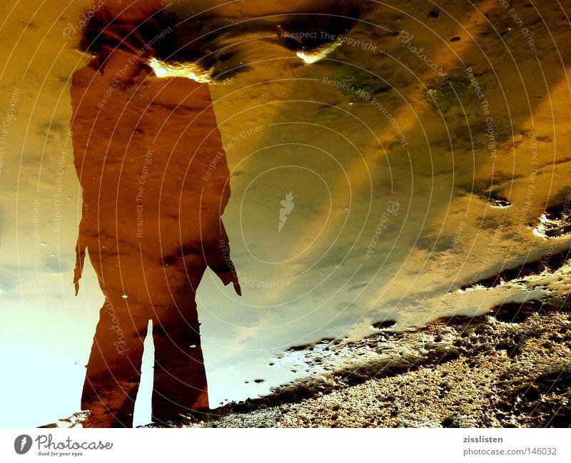 natural mirror Wasser Freude Einsamkeit Farbe Sand Kraft planen Kraft Trauer entdecken Pfütze Staub Lichtblick