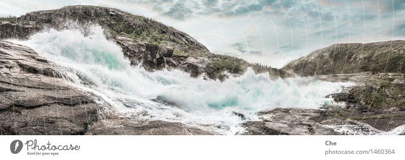 Wasserkraft Kraft Wasserkraftwerk Gletscherschmelze Strömung Fluss reißend Macht Umwelt regenerativ Windkraftanlage Wasserfall ohnmächtig Berge u. Gebirge