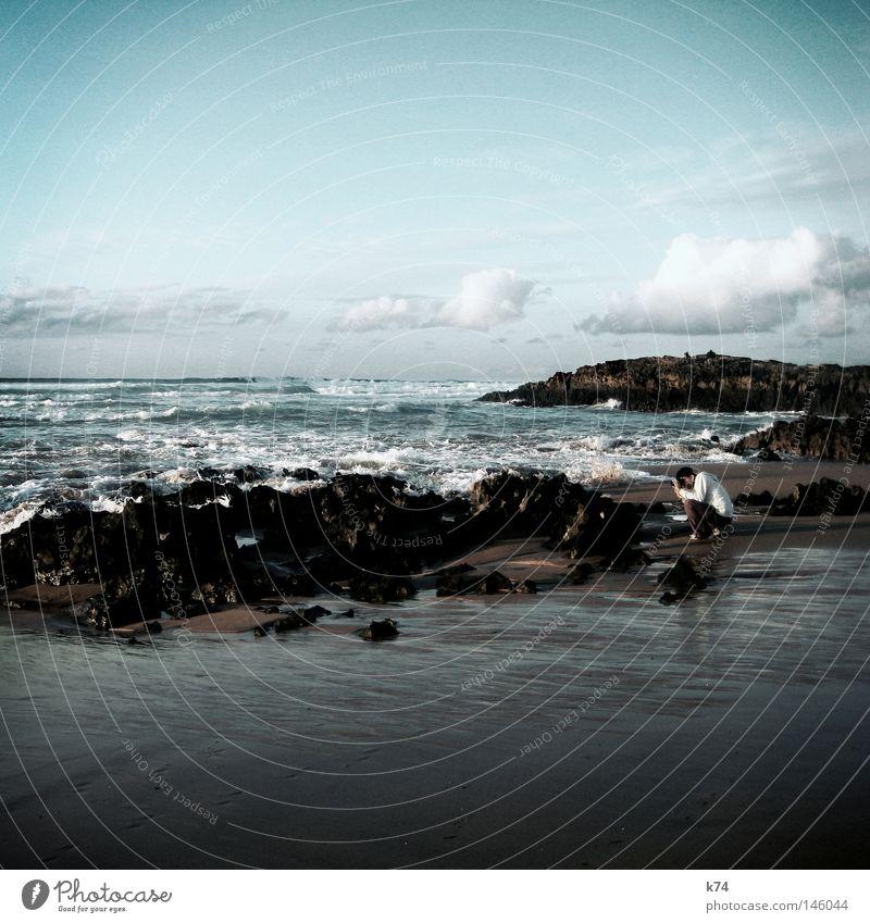 rock & snap Wasser Meer Strand Sand Wellen Küste Felsen Konzentration Fotograf Brandung Fotografieren