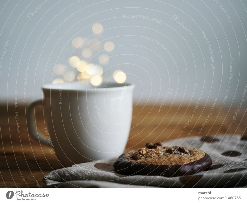 Lebkuchen & Tee Weihnachten & Advent Winter Essen Lebensmittel Stimmung Ernährung Getränk Kaffee lecker Geschirr Kuchen Tee Dessert Tasse Espresso Kakao