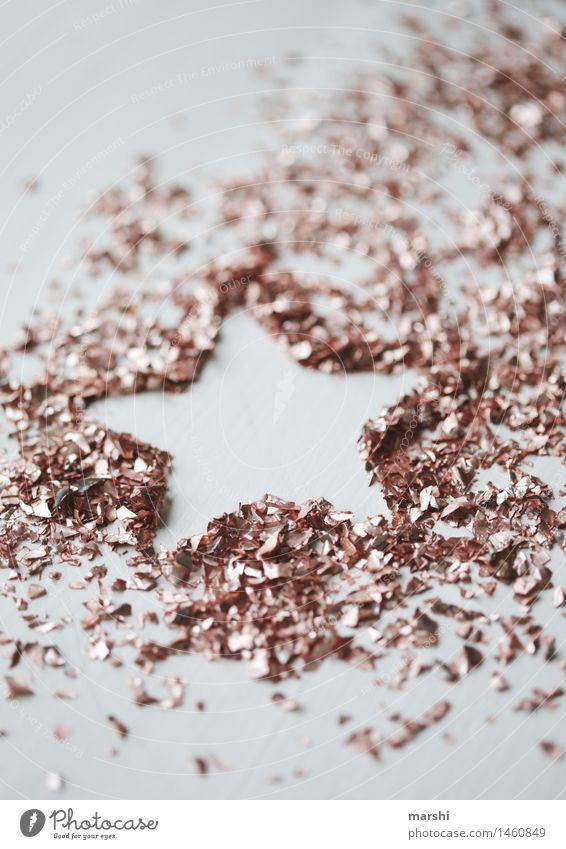 GlitzerSternchen Zeichen Gefühle Stimmung Stern (Symbol) glänzend Weihnachten & Advent Symbole & Metaphern Dekoration & Verzierung kupfer Farbfoto Innenaufnahme