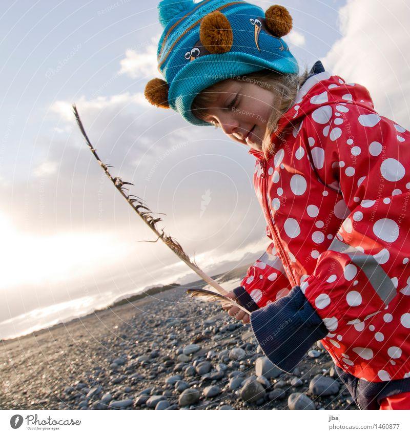 stolze Finderin - Alaska 01 Leben Zufriedenheit Freizeit & Hobby Ferien & Urlaub & Reisen Ausflug Ferne Strand Meer Kindererziehung lernen feminin Mädchen