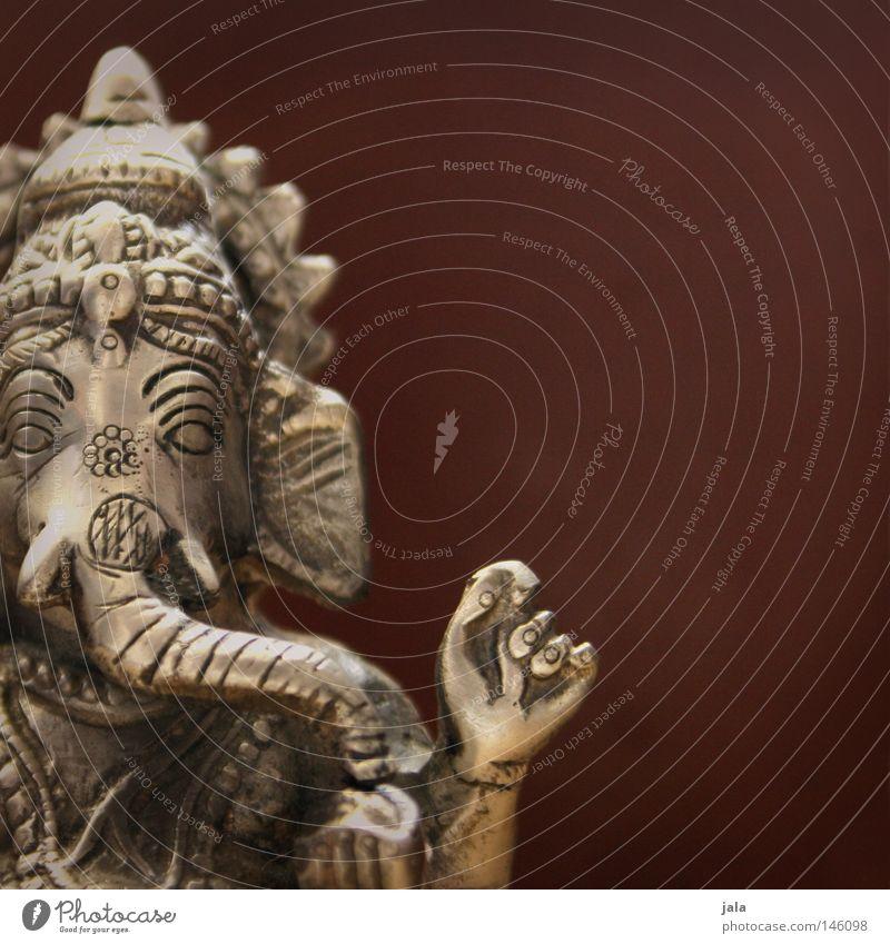 herr allen anfangs Religion & Glaube Kraft Kunst glänzend Hoffnung Kultur Indien Skulptur Figur Silber Glaube Gott Elefant Weisheit Optimismus Götter