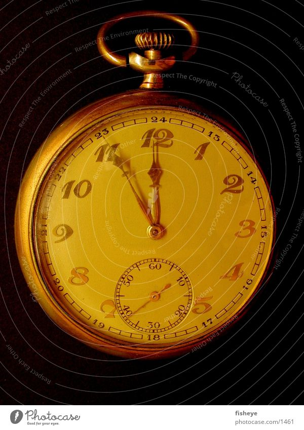 Goldene Zeiten Dinge Uhr Typographie Uhrenzeiger Taschenuhr