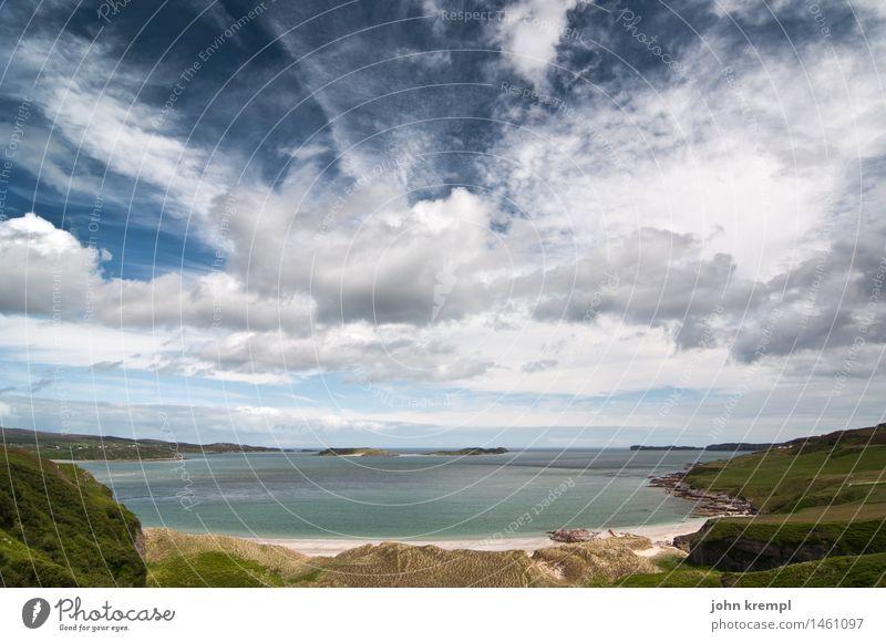 Buchtige Wucht Natur Landschaft Wasser Himmel Wolken Küste Strand Nordsee Schottland nass Glück Lebensfreude Romantik Sehnsucht Heimweh Fernweh Erholung erleben