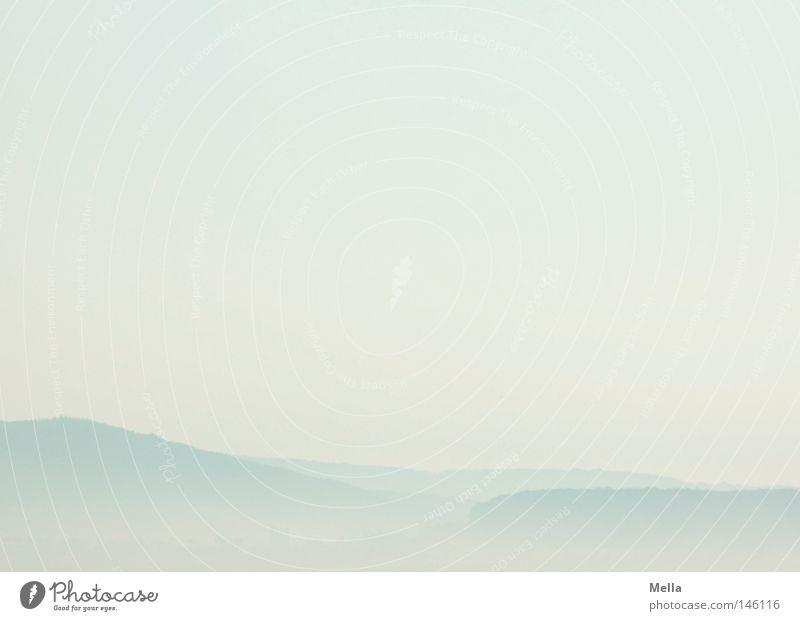 Morgenweite Natur Himmel blau Ferne Freiheit Landschaft Luft hell Nebel Umwelt frei frisch Aussicht natürlich Hügel Dunst