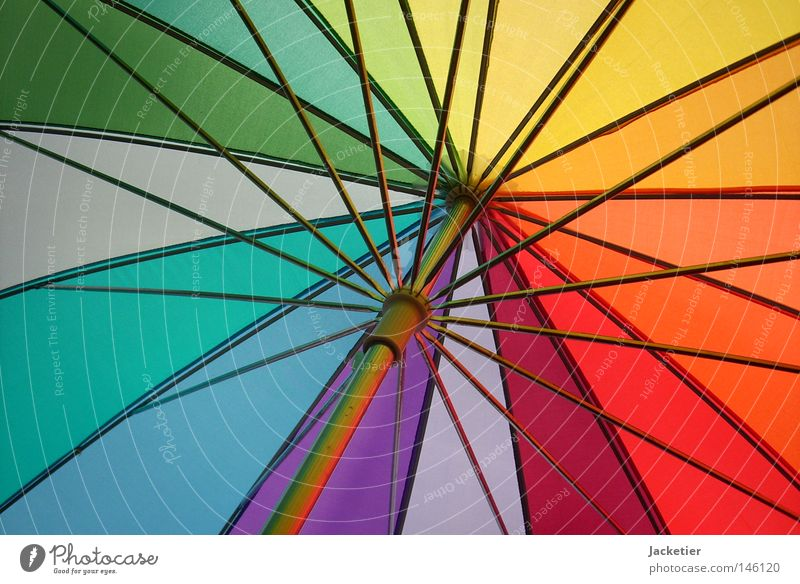 Homoschirm grün blau rot gelb Farbe Herbst Regen Metall Wetter Fröhlichkeit Regenschirm Sonnenschirm türkis Wetterschutz grasgrün