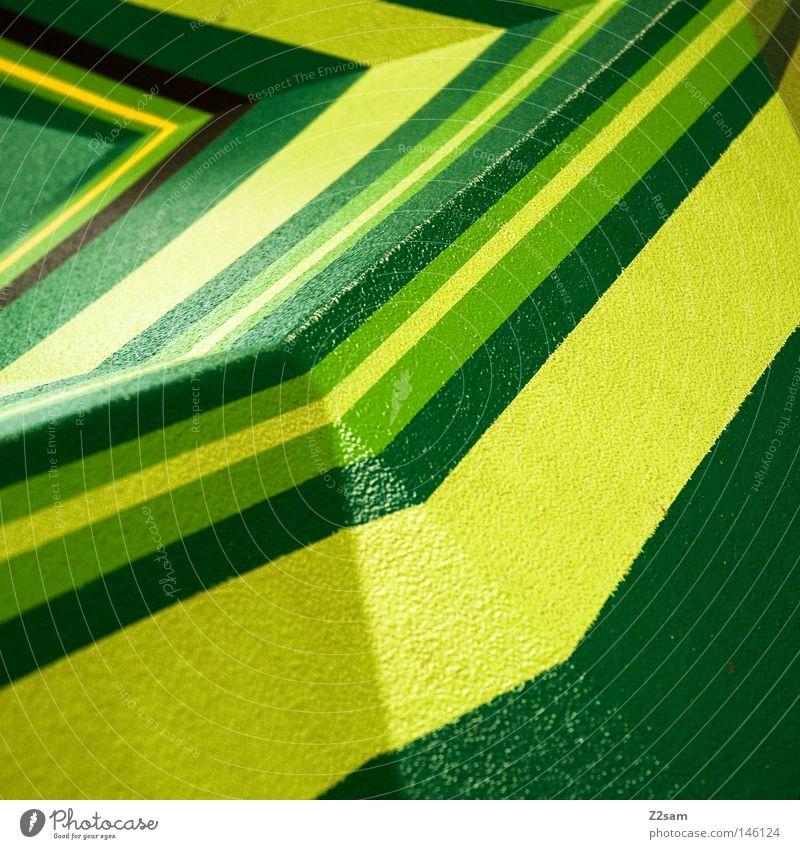 krokodil grün gelb Farbe Berge u. Gebirge Linie frisch einfach Dinge Gipfel Geometrie graphisch Grad Celsius Krokodil dunkelgrün