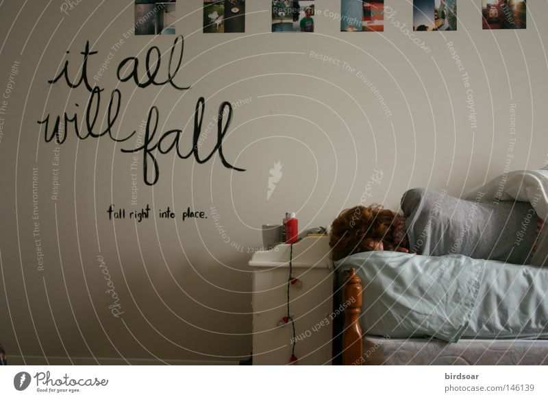 Herbst Wand Raum Bett Gemälde Informationstechnologie Selbstportrait Schlafzimmer rechts Beschreibung