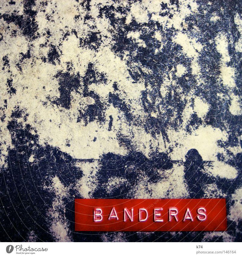 ANTONIO alt rot grau Schriftzeichen Buchstaben Spanien Kino Aktenordner Etikett Ringbuchordner Mappe Hängeordner Schauspieler Spanisch