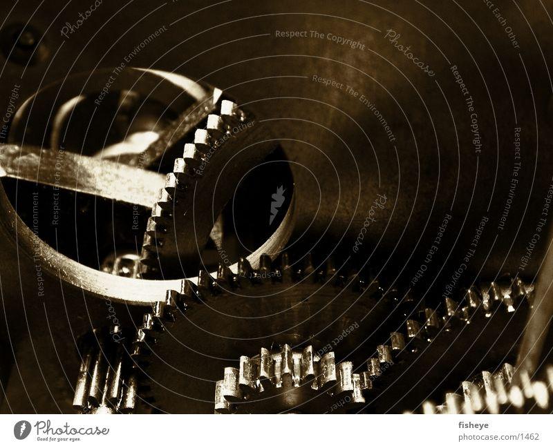 Zeitgetriebe Uhr verzahnt braun Elektrisches Gerät Technik & Technologie Zahnrad Erdöl Metall Loch dreckig