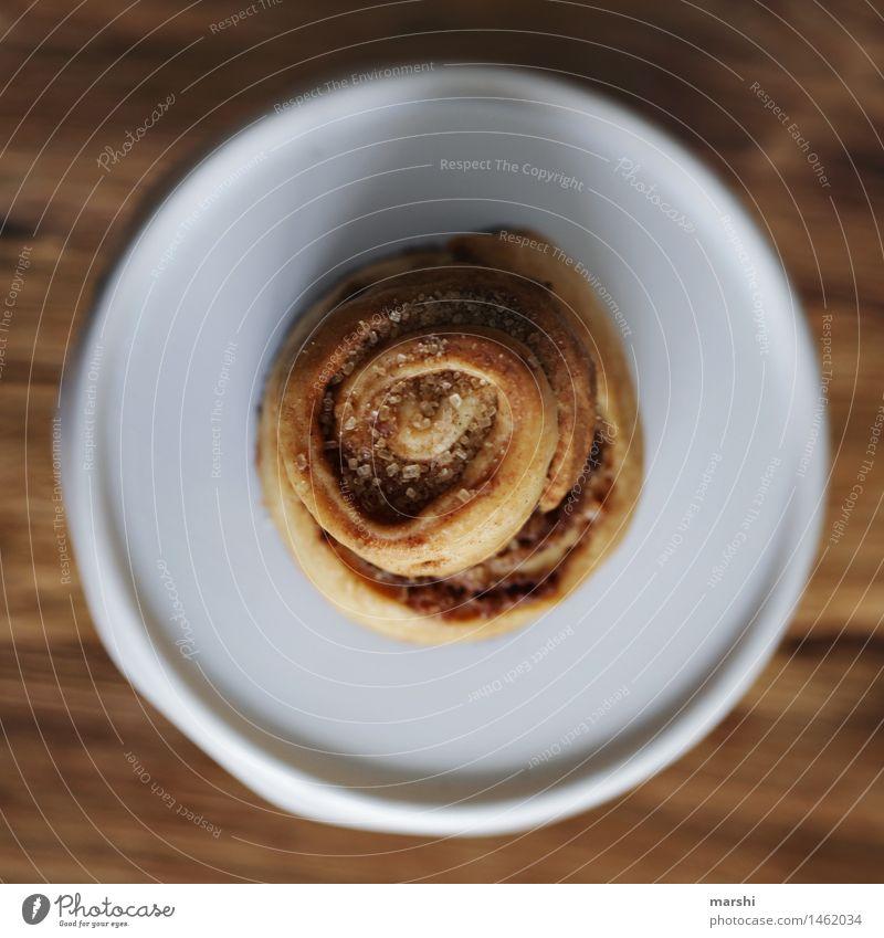 Zimtschnecken-Hypnose Lebensmittel Dessert Süßwaren Ernährung Essen Stimmung lecker Perspektive Vogelperspektive Foodfotografie zimtschnecke Farbfoto