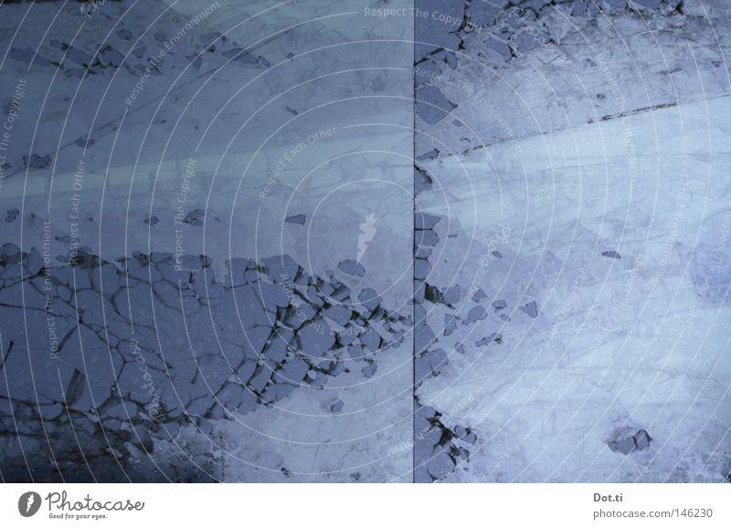 Kontinentaldrift am Þórisjökull blau kalt Hintergrundbild Eis Glas Dinge Ecke Teile u. Stücke Riss Fensterscheibe gebrochen Anhäufung Oberfläche