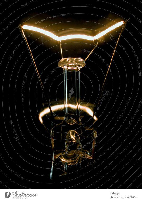 Lichtquelle/2 Glühbirne Elektrizität dunkel Elektrisches Gerät Technik & Technologie Energiewirtschaft Glas Metall