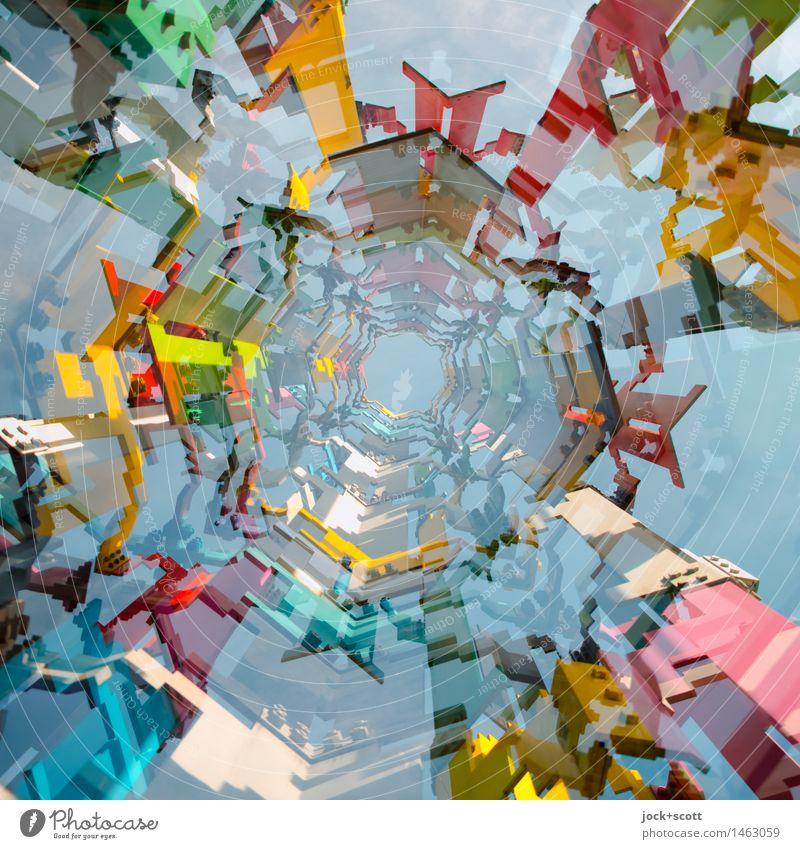 #MixII Stil Design Skulptur Peking Metall Netzwerk Trichter ästhetisch eckig trendy hoch modern viele Stimmung Willensstärke Leidenschaft Farbe Inspiration