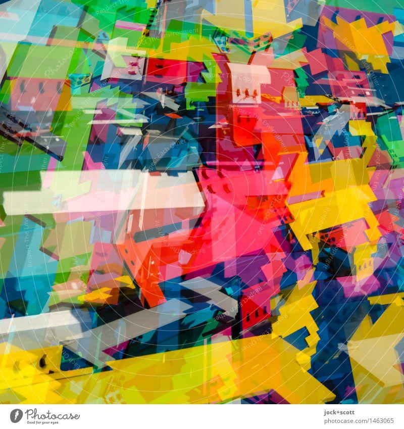 #MixIII Farbe Stil Metall Design Dekoration & Verzierung modern ästhetisch Fröhlichkeit Perspektive Kreativität einzigartig Kultur Streifen Netzwerk