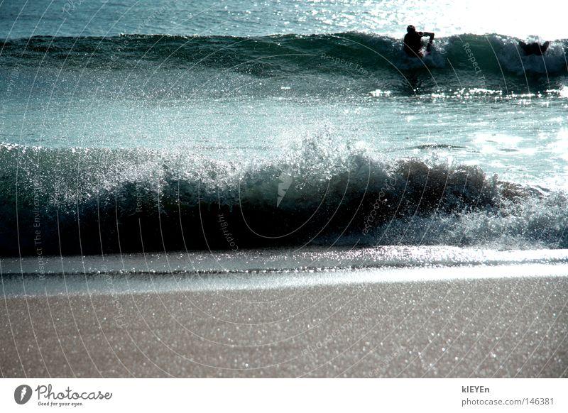 Gischt Wasser Sonne Meer Strand Sand Wellen Wassertropfen Surfer