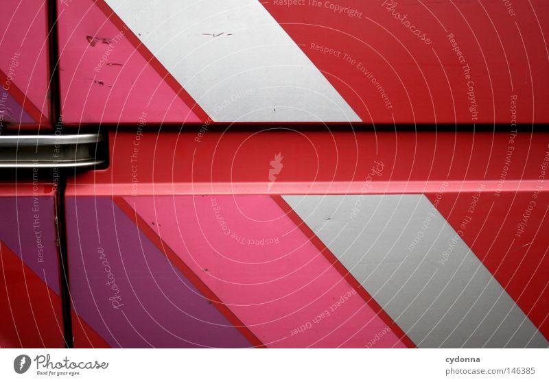 Farbverliebt mehrfarbig Strukturen & Formen schön Dekoration & Verzierung Wärme PKW Streifen retro violett rosa rot weiß Farbe KFZ Autotür knallig Griff