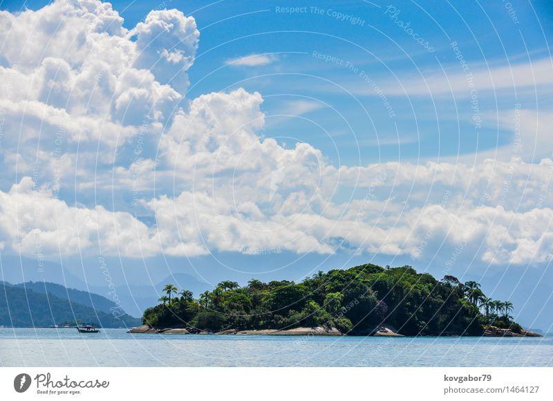 Tropische Insel nahe Paraty, Green Coast, Brasilien schön Ferien & Urlaub & Reisen Tourismus Meer Himmel Wolken Küste Kleinstadt Architektur Wasserfahrzeug alt