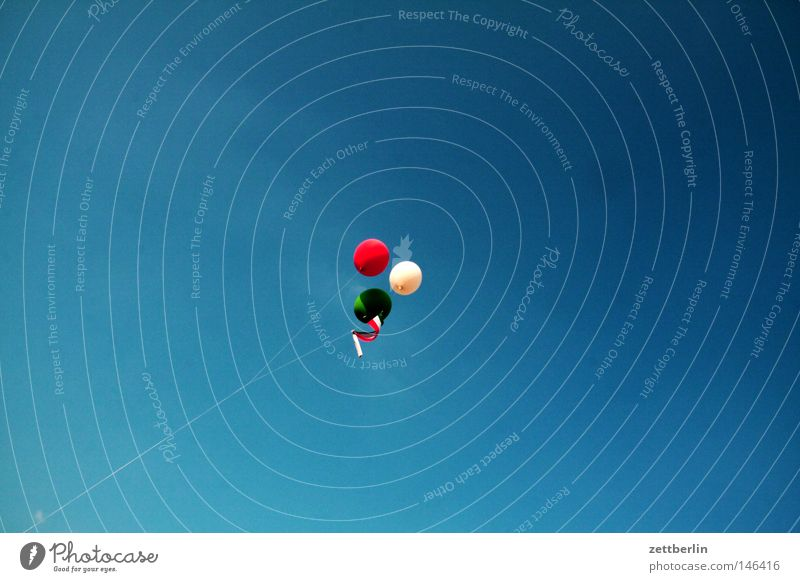 Italien wird Weltmeister Himmel weiß grün blau rot Sommer Freude Luftballon