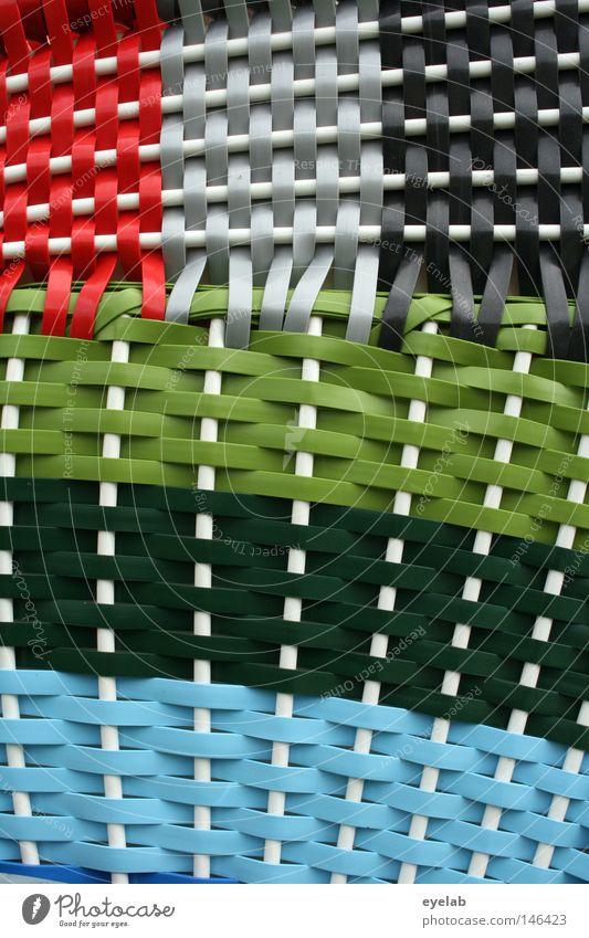 United Colors of Strandkorbgeflecht blau weiß grün rot Ferien & Urlaub & Reisen schwarz Farbe Küste Freizeit & Hobby Design außergewöhnlich Möbel Handwerk
