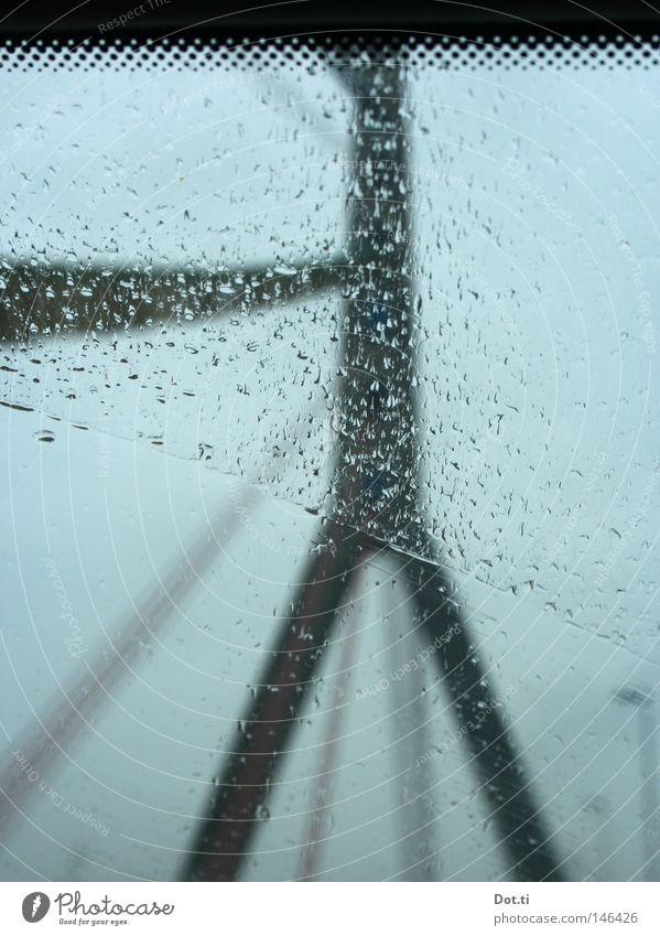 Mittelträger-Schrägseilbrücke Wasser Ferien & Urlaub & Reisen Wolken Fenster grau PKW Regen Glas Straßenverkehr Nebel Wetter Wassertropfen nass Beton Verkehr