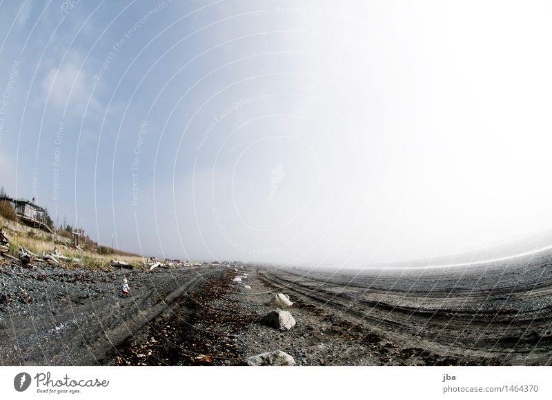 Am Strand - Alaska 02 Ausflug Sonne Meer wandern Kind Natur Landschaft Urelemente Luft Wassertropfen Himmel Herbst Schönes Wetter Nebel Küste Homer USA