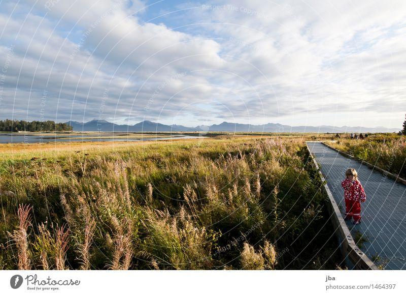 warten auf Papa - Alaska 05 Wohlgefühl Freizeit & Hobby Ferien & Urlaub & Reisen Ausflug Freiheit Sightseeing wandern Mädchen Kindheit 1 Mensch 1-3 Jahre