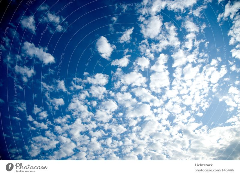 atme II Himmel Wolken blau Tag Sommer subere luft sommen blue sky heaven aerial to draw breath. lut holen