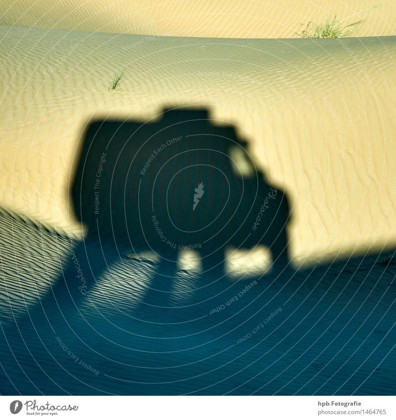 Geländewagen im Sand Sommer Landschaft Freude schwarz Umwelt gelb Herbst Wege & Pfade Bewegung Sport außergewöhnlich PKW Geschwindigkeit einzigartig