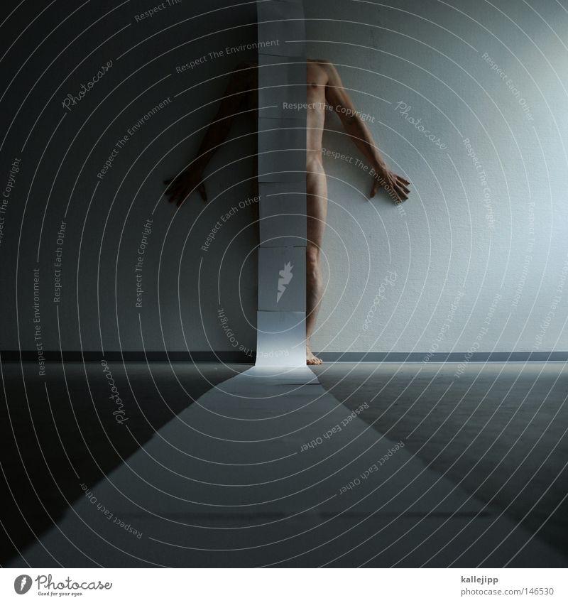 lebenslauf Mensch Mann weiß Akt Wand nackt Beine Kunst Arbeit & Erwerbstätigkeit Raum Arme Haut Design Boden Bodenbelag