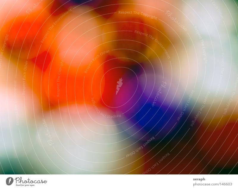 Multicolor blau grün Farbe rot Freude gelb dunkel Beleuchtung Feste & Feiern Hintergrundbild Kunst glänzend Ordnung Kreis weich