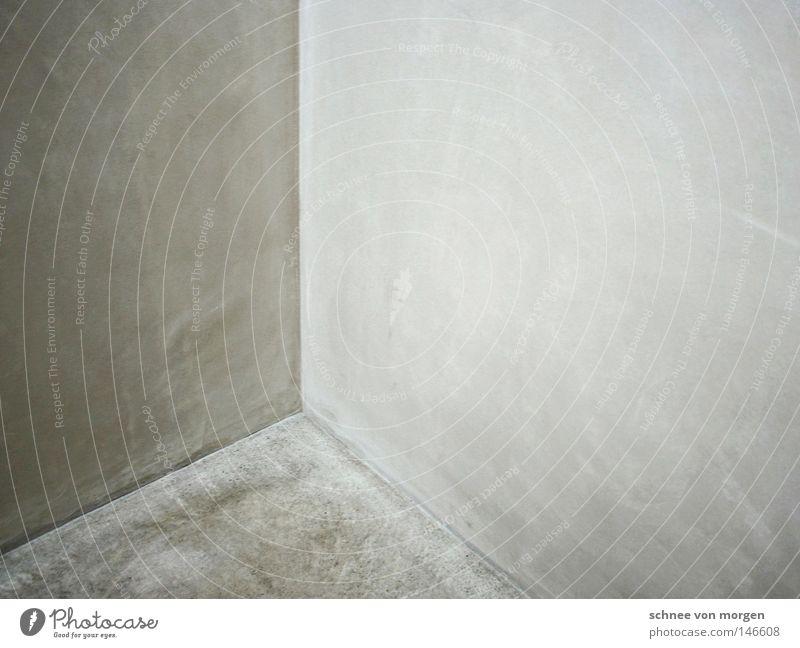 sichtbar Wand Bauwerk Architektur Ecke Linie gerade vertikal horizontal Rechteck weiß hell Stein Bodenbelag Beton Glätte reduziert ästhetisch simpel